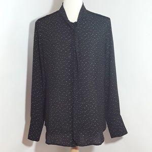 Banana Republic black with white polka dots blouse